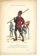 Ramoneur Ramonage Cheminée Paysan Mendiant Au XVéme Siècl. Gravure Ancienne Costume De PARIS - Vieux Papiers