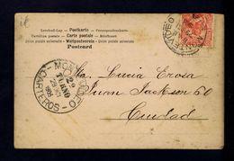 Montevideo Courrier Mail Facteurs Post (carteiros) Love Old Postcard 1903 Sp4493 - Post
