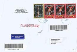 Albania 2012 Tirana Circus Barcoded Registered Cover - Albanië