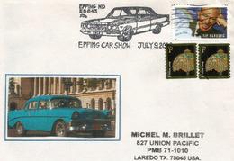 USA. Dakota Du Nord Car Show A Epping.,Chevy_Bel_Air_1957, Une Belle Enveloppe Souvenir. - Voitures