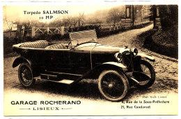 AG 270 / C P A -LISIEUX  -(14)  GARAGE ROCHERAND  TORPEDO SALMSON - Lisieux