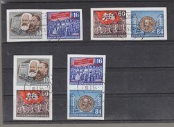 Deutschland DDR  Gestempelt   392B-395B Einzelmarken Aus Block 9  Karl Marx Katalog  240,00 € - DDR