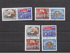 Deutschland DDR  Gestempelt   392A-395A Einzelmarken Aus Block 9  Karl Marx Katalog  240,00 € - DDR