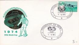Germany Cover FIFA World Cup Germany Football 1974 - Frankfurt Am Main   (DD3-9) - Coppa Del Mondo