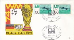 Germany Cover FIFA World Cup Germany Football 1974 - München   (DD3-9) - Coppa Del Mondo