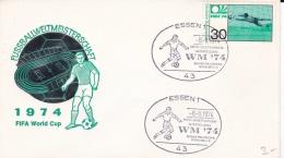 Germany Cover FIFA World Cup Germany Football 1974 - Essen (DD3-9) - Coppa Del Mondo