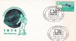Germany Cover FIFA World Cup Germany Football 1974 - Dortmund (DD3-9) - Coppa Del Mondo