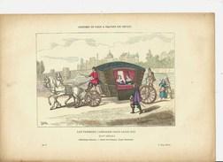 Transport Véhicule Voiture Sous Louis XIII . Gravure Premier Carrosse Chevaux Cheval Veicolo Vehicle Fahrzeug Voertuig - Collections