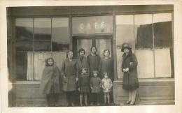 CARTE PHOTO CAFE LIEU NON IDENTIFIE - Caffé