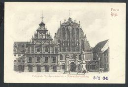 +++ CPA - Lettonie - Russie - RIGA - Schwarzhaeupterhaus  // - Lettonie