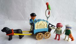 RARE PLAYMOBIL JOUEUR D'ORGUE DE BARBARIE AMBULANT 5550 1989-90 - Playmobil