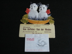 Kalender Chromo 1968 MERKSEM Van Geffelen - Van Der Meulen - Kalenders