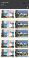 Norway 2008 Scott #1547a Booklet Of 5 Each A Varden Sailboat And Lighthouse, Lygnor - Unused Stamps