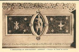 07 ANNONAY  Monastère Du Bon Pasteur     Fresque De L'autel En Marbre - Annonay