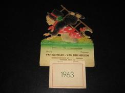 Kalender Chromo 1963 MERKSEM Van Geffelen - Van Der Meulen - Kalenders