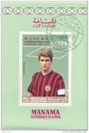 Manama 1969 Calcio Soccer MILAN Gianni Rivera Perf. Preobliterato Italy - Berühmte Teams