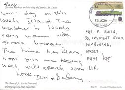 St Lucia 2001 Rodney Bay Bodmin UK Train Viewcard - St.Lucia (1979-...)