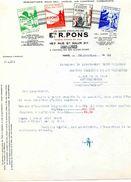 Robinetterie, Ets R. PONS FONDERIE 167 Rue Saint Maur, PARIS11° Et BAR Sur AUBE, 1935 - Frankreich