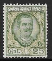 Italy, Scott # 82 Mint Hinged Victor Emmanuel Lll, 1901, No Defects - 1900-44 Victor Emmanuel III.