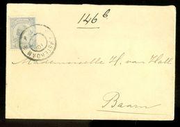 BRIEFOMSLAG Uit 1889 Gelopen Van AMSTERDAM Naar BAARN  (10.642s) - Period 1852-1890 (Willem III)