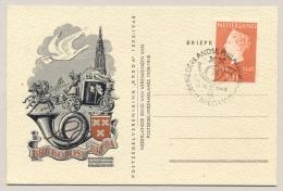 Nederland - 1948 - 10 Cent Inhuldigingszegel Op Speciale Kaart En Stempel Postzegelvereniging Breda - Periode 1891-1948 (Wilhelmina)