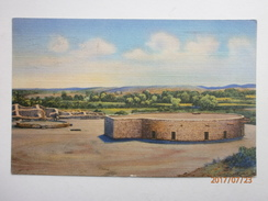 Postcard Aztec Ruins National Monument New Mexico Native American Interest My Ref  B11538 - Native Americans