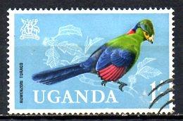 OUGANDA. N°72 De 1965 Oblitéré. Touraco. - Cuckoos & Turacos