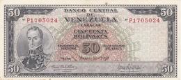 BILLETE DE VENEZUELA DE 50 BOLIVARES DEL AÑO 1969 (BANKNOTE) MUY RARO - Venezuela