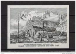 Islande Bloc N° 9 Neuf Jounée Du Timbre 1988 - Blocks & Sheetlets