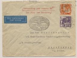 Nederlands Indië - 1937 - 12,5 Cent + 7,5 Cent Op LP-cover Van LB KOTAMOBAGOE Naar Oegstgeest - Indes Néerlandaises