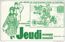 """Buvard """"JEUDI"""". - Textile & Vestimentaire"""