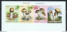 NORTH KOREA 2017 PINE MUSHROOMS STAMP STRIP IMPERFORATED - Paddestoelen