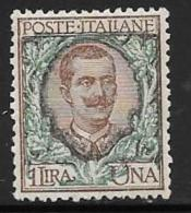Italy, Scott # 87 Mint Hinged Victor Emmanuel Lll, 1901 - 1900-44 Victor Emmanuel III.