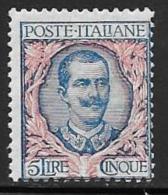 Italy, Scott # 91 Mint Hinged Victor Emmanuel Lll, 1901 - Nuovi