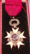 Croix De Chevalier De L'ordre De La Couronne Avec Boite - Belgium