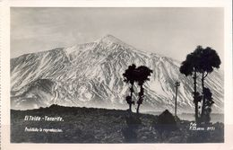 1938 , CANARIAS  , TARJETA POSTAL CIRCULADA , TENERIFE , EL TEIDE - Tenerife