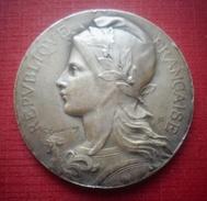 Médaille. République Française. Société D'Agriculture De L'Arrondissement De Montreuil-sur-Mer. - Professionali / Di Società