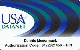 USA Datanet Plastic Calling Card - United States