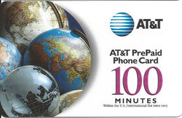 AT&T Plastic PrePaid Phone Card - Etats-Unis
