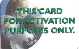 Plastic Activation Card - United States
