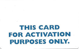 Plastic Activation Card - Other