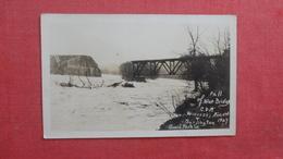 RPPC  By Huard---  Fall Of The Blue Bridge Winobski  Vermont  Ref 2645 - United States