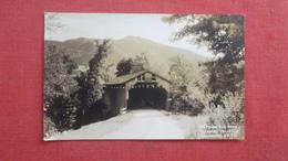 RPPC   Covered Bridge Pleasant Valley Vermont  Ref 2645 - United States