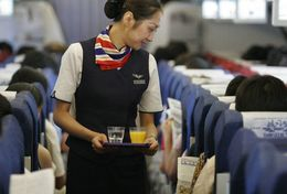 T80-080  ]  Flight Attendants Air Attendants Stewardesses Hostesses Cabin Crew , China Pre-paid Card, Postal Statioery - Jobs