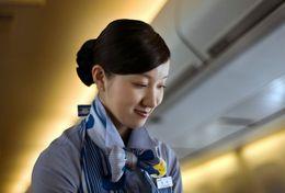 T80-083  ]  Flight Attendants Air Attendants Stewardesses Hostesses Cabin Crew , China Pre-paid Card, Postal Statioery - Jobs