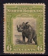 North Borneo - 1909 6c Rhino (*) # SG 167 - Rhinozerosse