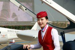 T80-091  ]  Flight Attendants Air Attendants Stewardesses Hostesses Cabin Crew , China Pre-paid Card, Postal Stationery - Jobs