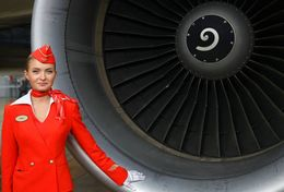 T80-092  ]  Flight Attendants Air Attendants Stewardesses Hostesses Cabin Crew , China Pre-paid Card, Postal Stationery - Jobs