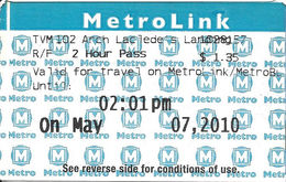 Paper MetroLink Ticket - Autres