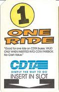 Paper CDTA One Ride Bus Ticket - Autres